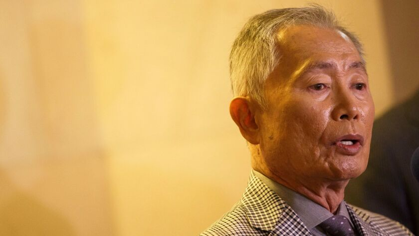 Actor and activist George Takei presents more than 300,000 Care2 signatures in support of the Muslim