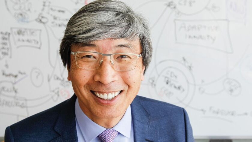 Dr. Patrick Soon-Shiong at the NantWorks campus in Culver City in April.