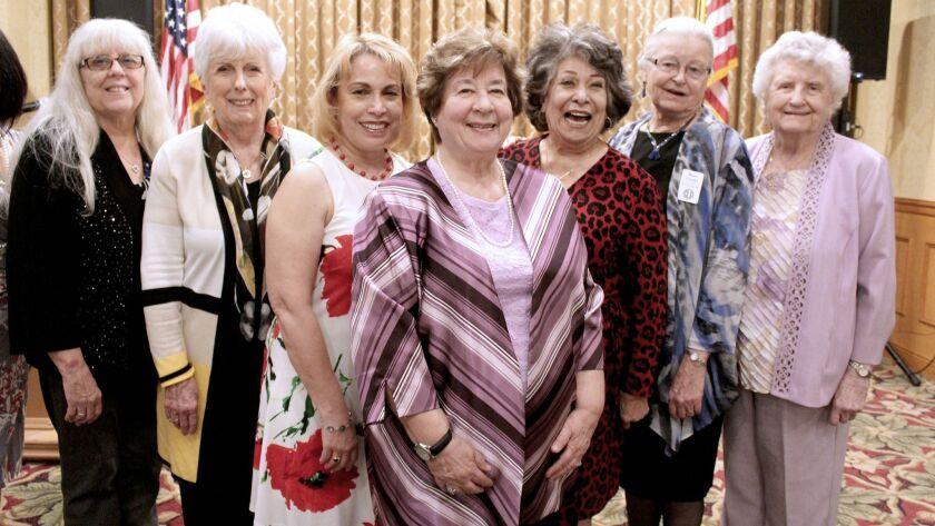 New Cabrini board members are, from left, Corresponding Secretary Mary Lou Barnes, Recording Secreta