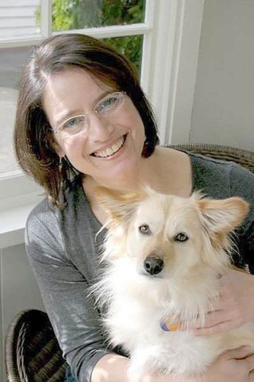 "Brenda Miller's dog Abbe is featured in the title essay of ""Blessing of the Animals."""