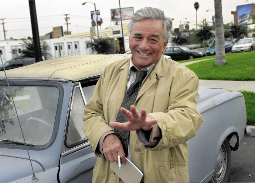 Peter Falk, shown in 2002, died at age 83 in 2011.
