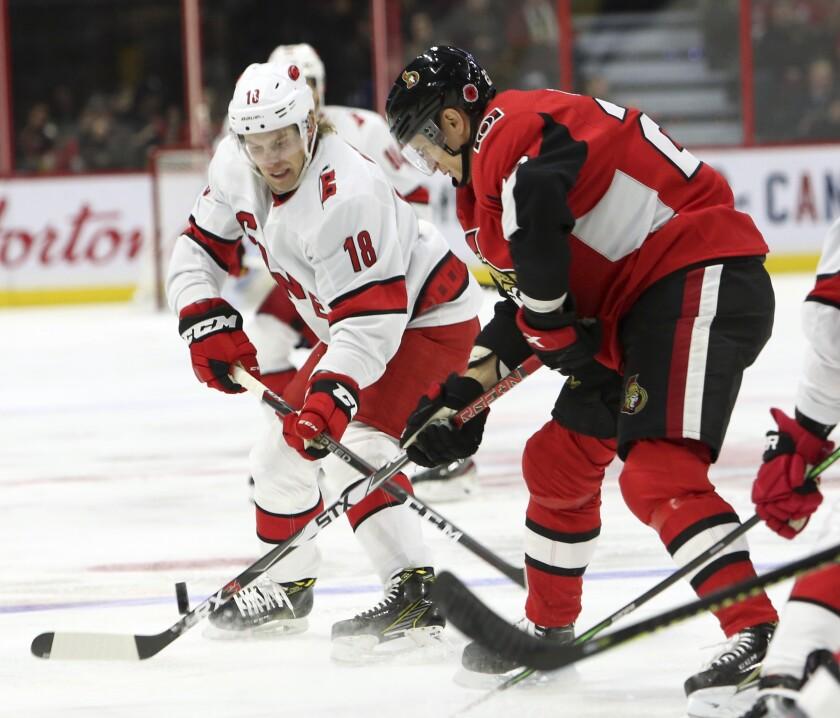 Hurricanes Senators Hockey