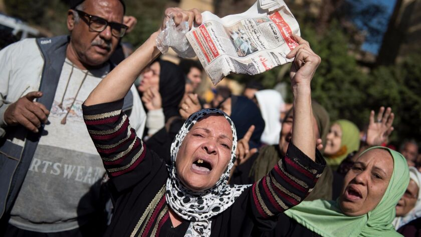 Funeral of Egyptian actress and singer Shadia, Cairo, Egypt - 29 Nov 2017