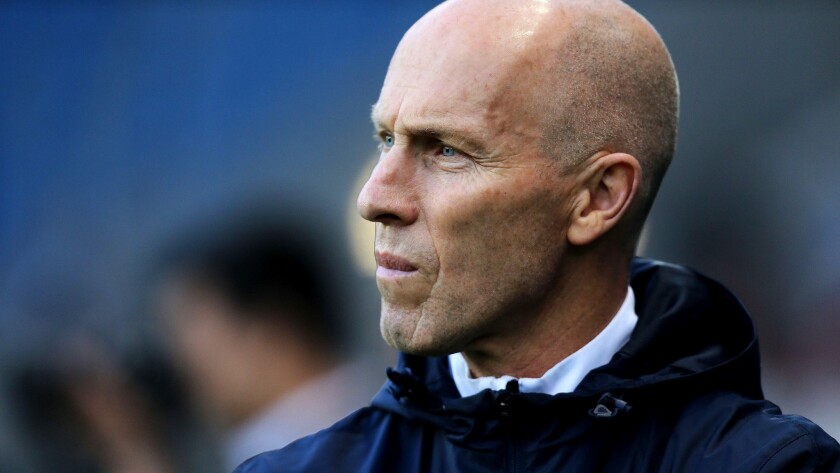 The Los Angeles Football Club hired Bob Bradley on Thursday as its first coach.