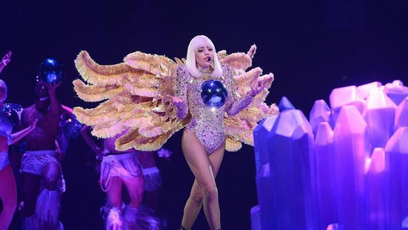 Lady Gaga is ready to take flight at the 2017 Superbowl halftime show.