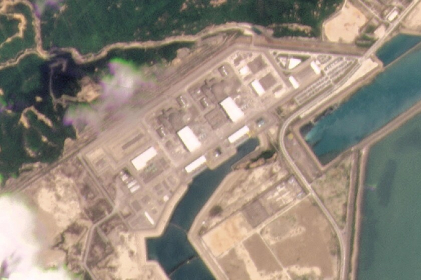 Aerial view of Taishan Nuclear Power Plant in southern China
