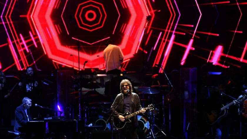 HOLLYWOOD, CA - SEPTEMBER 9, 2016 - Jeff Lynne, center, performs with the Electric Light Orchestra