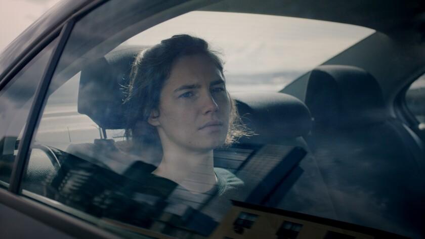 """A still from the documentary""""Amanda Knox""""."""