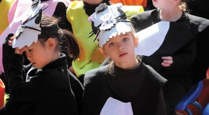 "Kindergartners dressed to perform ""I Bought Me a Cat."" Photo: Jon Clark"