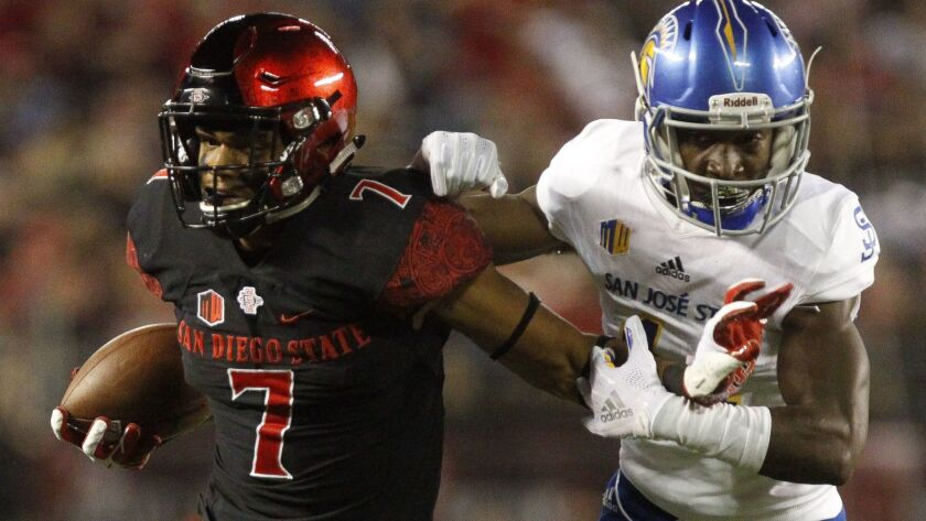 San Diego State wide receiver Fred Trevillion returns against UNLV after missing last week's game at New Mexico after being under concussion protocol.