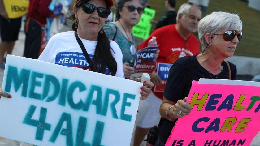 """Medicare For All"" Rallies Held Across U.S. Ahead Of Senate Health Care Vote"