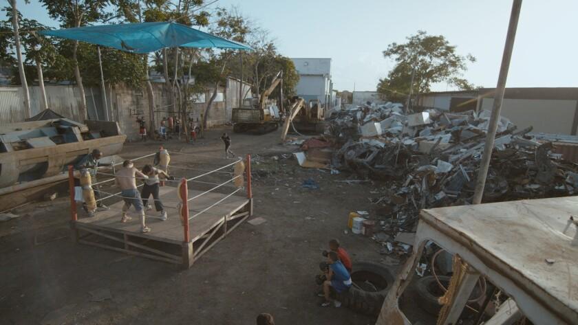 """A scene from the film """"La Granja."""""""