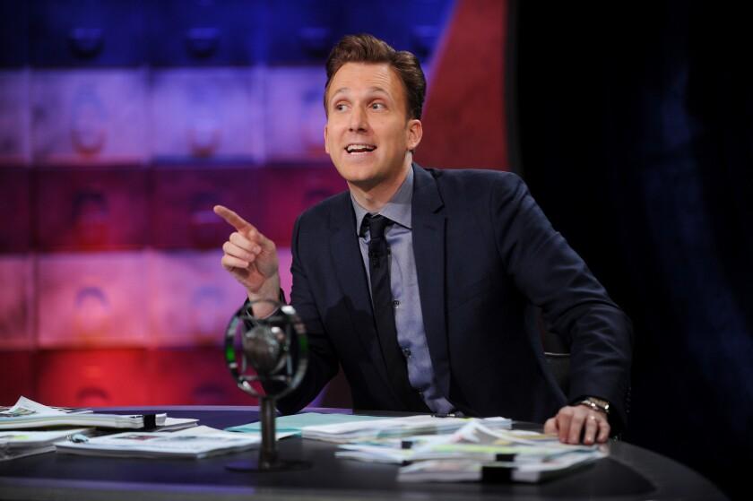 "Comedian Jordan Klepper hosts Comedy Central's new show, ""The Opposition."""