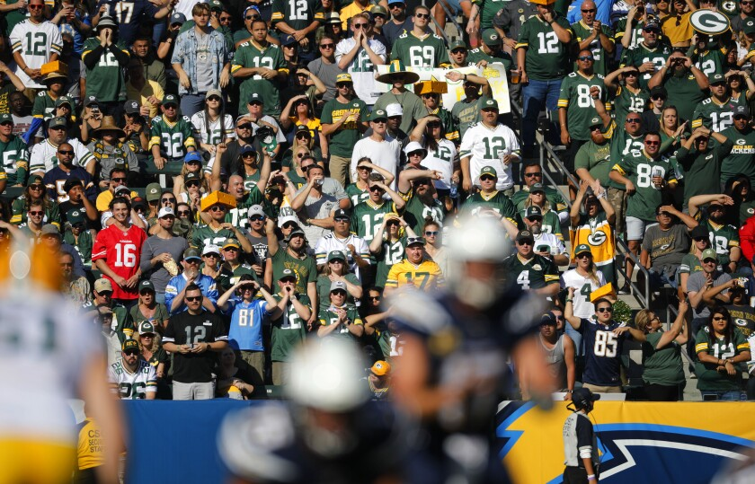 Image result for packers-chargers 2019 crowd