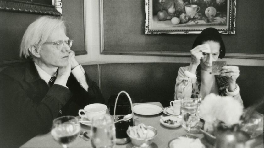 "Andy Warhol and Diana Vreeland in New York in 1976, from ""Annie Leibovitz, The Early Years, 1970 - 1983."""