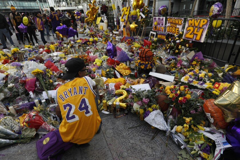 Fans without tickets to Kobe Bryant memorial urged to stay away, watch from home