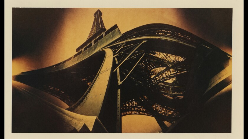 "Pinhole cameras can be used to create interesting distortions, as in ""The Eiffel Tower,"" 1982, 20 by 33.5 inches, archival pigment print."