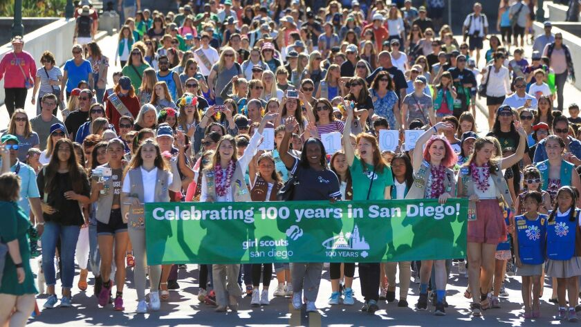 In May of 2017, Girl Scouts San Diego celebrated its 100th anniversary with a San Diego Bridging Ceremony at Balboa Park.