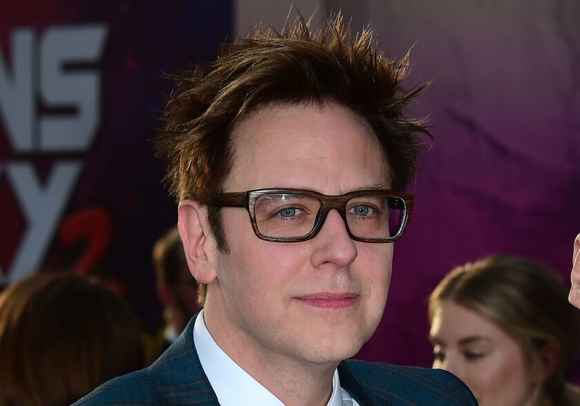 """Writer and director James Gunn arrives for the world premiere of the film """"Guardians of the Galaxy Vol. 2"""" in Hollywood, Calif. April 19, 2017."""
