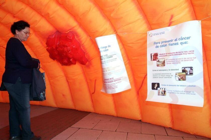 Las alteraciones intestinales pueden ser señales del cáncer de colon, de acuerdo con Rosa Gloria Nájera Hernández, oncóloga del Instituto Mexicano del Seguro Social (IMSS). EFE/Archivo