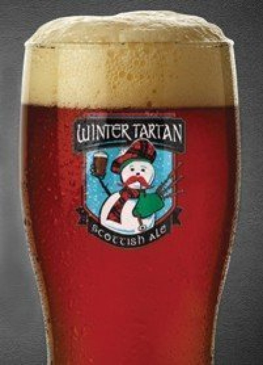 Winter Tartan Scottish Ale is one of the seasonal offerings at Rock Bottom Restaurant and Brewery.