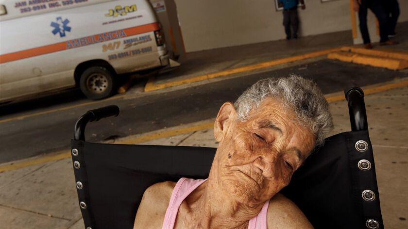 Bernadina Ortiz, 89, is released from the hospital in San Juan.