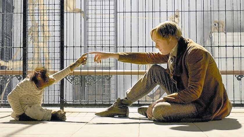 """Charles Darwin, played by Paul Bettany, has visions in """"Creation."""""""