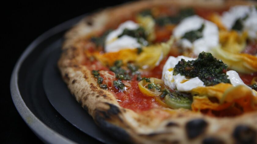Corbarina pizza by chef Daniele Uditi of Pizzana, one of the pizza-makers coming to A Tutta Pizza during Food Bowl.