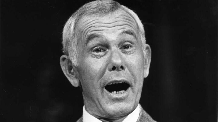 "Johnny Carson on ""The Tonight Show"" set Sep. 15, 1982."