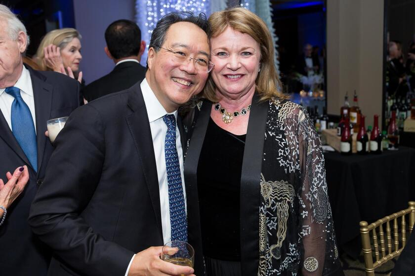 Grammy Award-winning cellist and gala concert performer Yo-Yo Ma with Debbie Turner