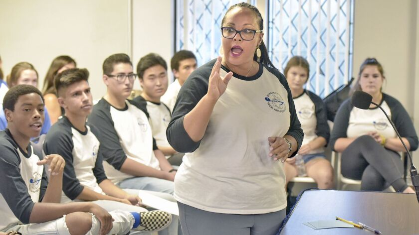 Lorri Hubert, President of Burbank High Youth Vocal Arts Foundation speaks about fundraising activit