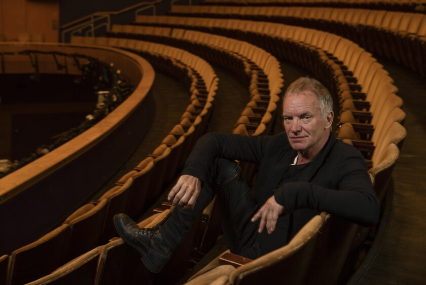 "Sting wrote and performs in, ""The Last Ship,"" a very personal story about the seaside town where he grew up.  He was photographed at the Ahmanson Theater in downtown Los Angeles where the national tour begins."