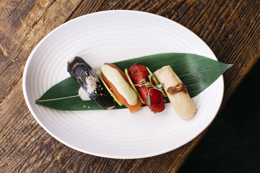A plate of nigiri