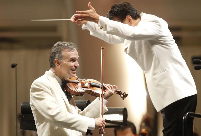 Soloist Gil Shaham and conductor Ken-David Masur