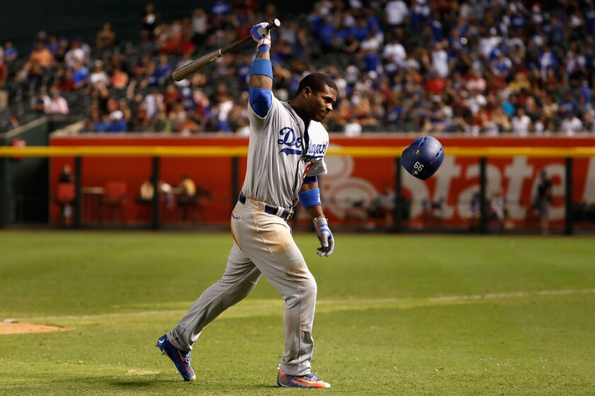 Yasiel Puig not part of Dodgers traveling party to Colorado