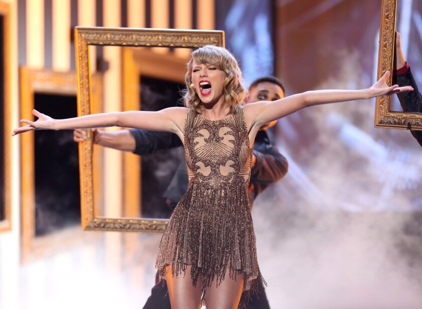 Taylor Swift performs at the American Music Awards ceremony at the Nokia Theatre on Nov. 23.