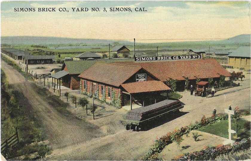 A postcard showing a brickyard