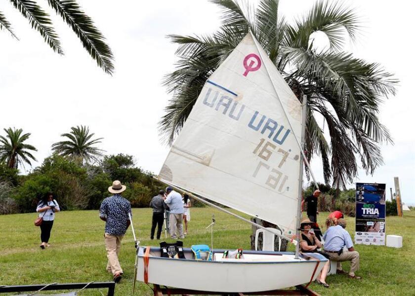 People participate in an event launching the Southern Hemisphere's tourist season at a hotel in La Coronilla, Uruguay on Dec. 15, 2018. EFE-EPA/Ana Paula Chain