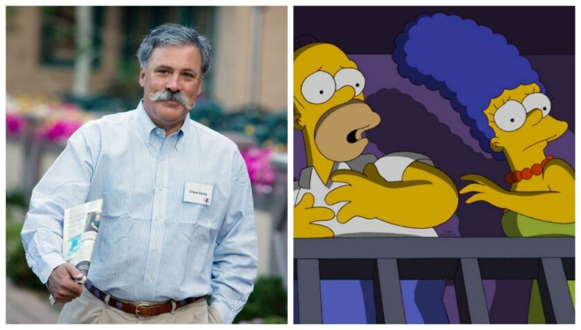 """News Corp. Chief Operating Officer Chase Carey may take """"The Simpsons"""" to cable."""