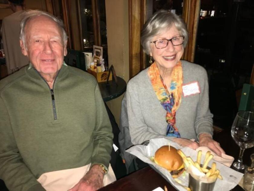 Otto and Sharon Steinbronn at happy hour at Hennessey's Tavern