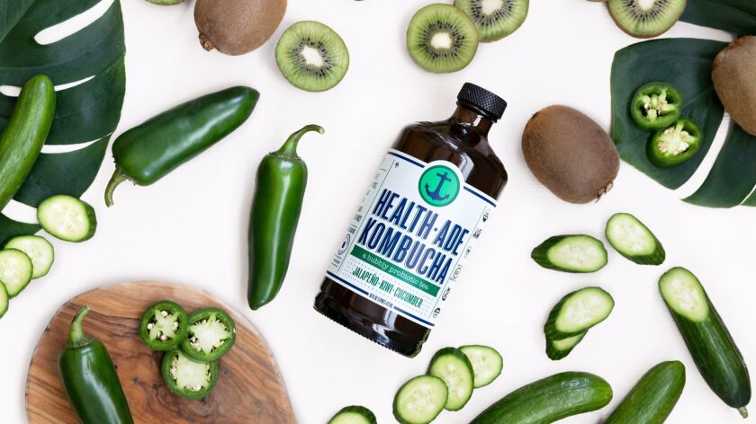 Jalapeno, cucumber and kiwi round out a new flavor from kombucha maker Health-Ade. Credit: Health-Ad