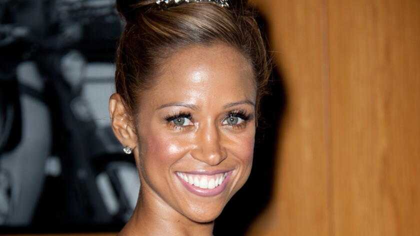 """Actress Stacey Dash, shown in 2011, has been suspended after using a profanity in discussing President Obama during the Fox News panel show """"Outnumbered."""""""