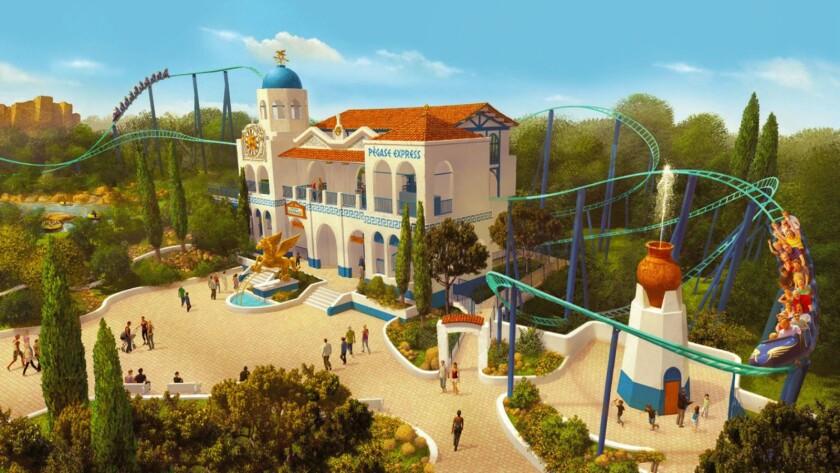 Pegasus coaster at Parc Astérix.