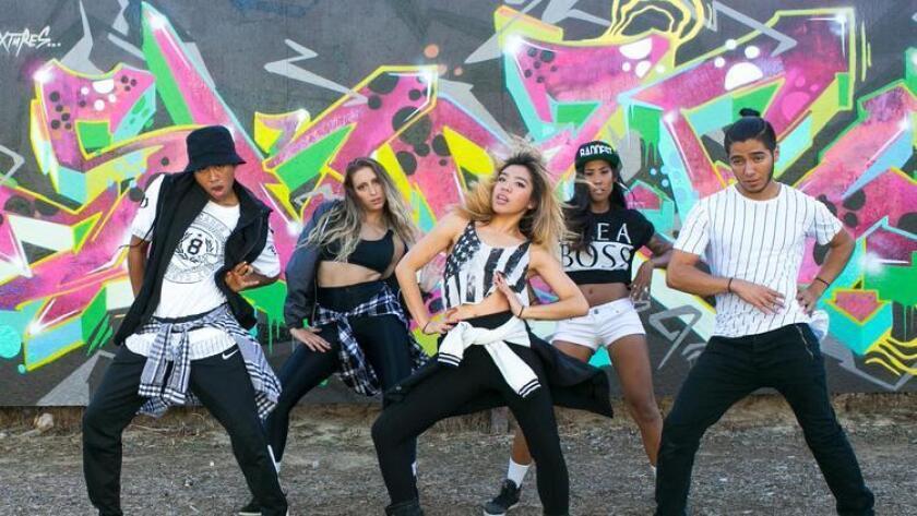 Urban FX dancers preforming a routine. Brogen Jessup Photography