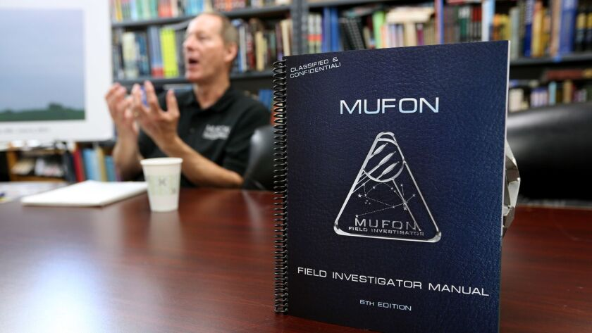 The official field investigation manual at Mutual UFO Network (MUFON) world headquarters in Irvine o