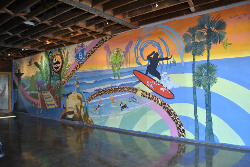 This mural inside Novo Brazil's Ocean Beach location is by local resident Janis Ambrosiani.