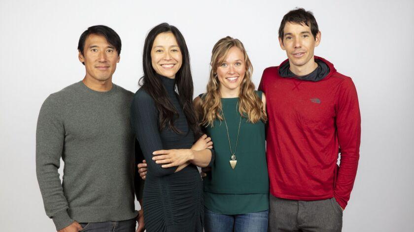 TORONTO, ONT., CA -- SEPTEMBER 10, 2018-- Directors Jimmy Chin and Chai Vaserhelyi, Sanni McCandless