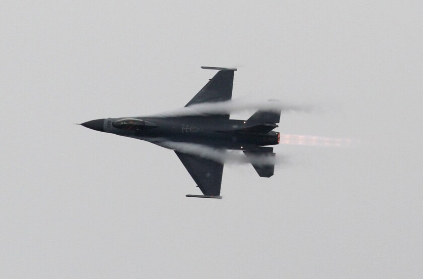 A Taiwanese air force F-16 fighter