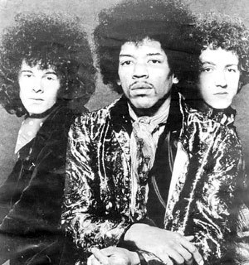 "Drummer Mitch Mitchell, right, and bass player Noel Redding, left, joined with celebrated guitarist Jimi Hendrix to create the Jimi Hendrix Experience in London in 1966. The following year, the band released its debut album, ""Are You Experienced?"" featuring the tracks ""Hey Joe"" and ""Purple Haze."""