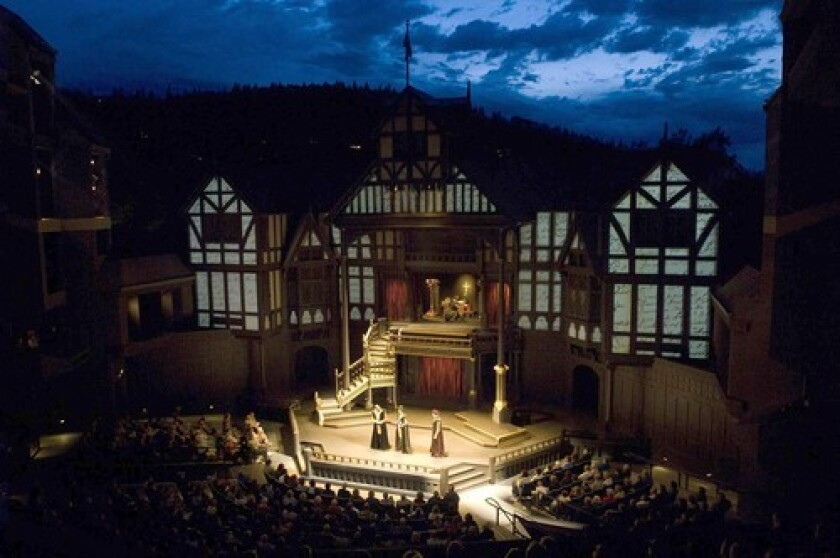 """<b>PAGENTRY</b>: Shakespeare's """"Henry VIII,"""" performed above, can shed light on events draamtized in Bill Cain's buzz-worthy """"Equivocation."""""""